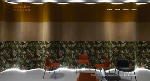 Chevalier Masson, a web project by Nordicmaterial